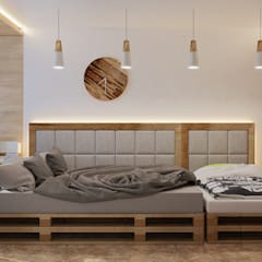 Визуализация проекта спальни г.Пермь: Спальни в . Автор – Alyona Musina,
