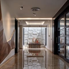 Modern corridor, hallway & stairs by Cubism Modern
