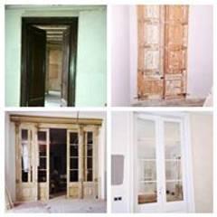 Antes y después de restauración: Ventanas de estilo  de FUSTERS CÓRDOBA