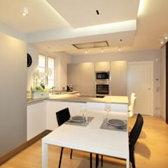 مطبخ تنفيذ architetto roberta castelli, حداثي