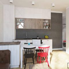 Mieszkanie Warszawa Powiśle : styl , w kategorii Kuchnia zaprojektowany przez Twój Kwadrat