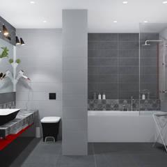 IKEA рулит! Бюджетная квартира: Ванные комнаты в . Автор – 3D GROUP