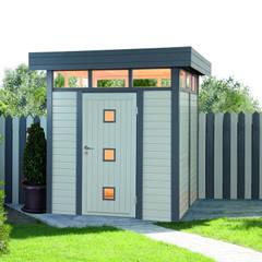 Gerätehaus aus Holz: klassische Garage & Schuppen von Gartenhaus2000 GmbH