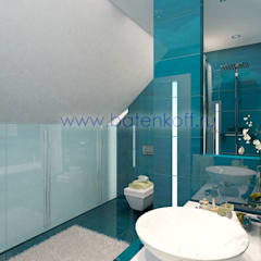 ห้องน้ำ โดย Дизайн студия 'Дизайнер интерьера № 1',