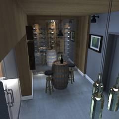 dom jednorodzinny Chyby: styl , w kategorii Piwnica win zaprojektowany przez Kara design. Pracownia Projektowa Karolina Pruszewicz,