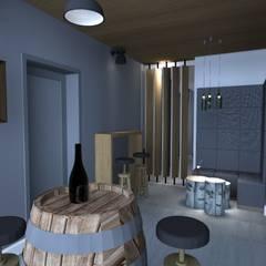 dom jednorodzinny Chyby: styl , w kategorii Piwnica win zaprojektowany przez Kara design. Pracownia Projektowa Karolina Pruszewicz