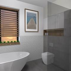 dom jednorodzinny Chyby: styl , w kategorii Łazienka zaprojektowany przez Kara design. Pracownia Projektowa Karolina Pruszewicz