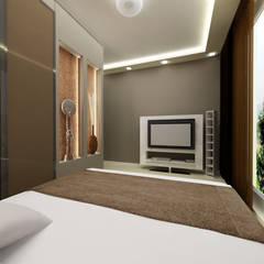 Przytulna sypialnia: styl , w kategorii Sypialnia zaprojektowany przez ZAWICKA-ID Projektowanie wnętrz