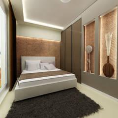 Mieszkanie na Woli: styl , w kategorii Sypialnia zaprojektowany przez ZAWICKA-ID Projektowanie wnętrz