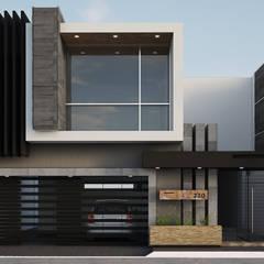 Fachada JR220: Casas de estilo  por Modulor Arquitectura, Moderno Pizarra