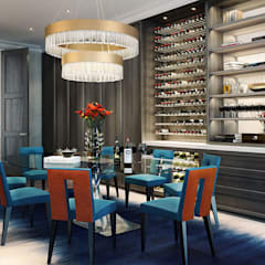 Knightsbridge Private Park, Moscow  :  Wine cellar by LINLEY London , Modern