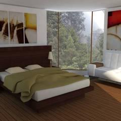 Casa Alpujarra: Habitaciones de estilo  por Trianaarquitectos,