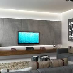 Мягкая зона отдыха: Гостиная в . Автор – Studio 25