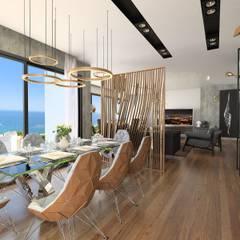 Murat Aksel Architecture – Suadiye rezidans:  tarz Yemek Odası