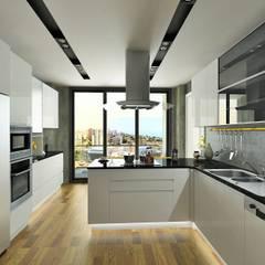 Murat Aksel Architecture – Suadiye rezidans:  tarz Mutfak, Modern Ahşap Ahşap rengi
