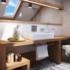 Apartament OpenSpace Ванная комната в скандинавском стиле от Polygon arch&des Скандинавский