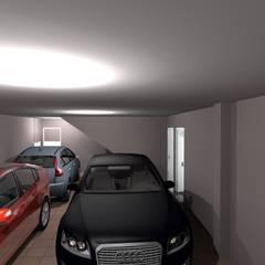Vivienda Unifamiliar en Los Navalucillos (Toledo): Garajes de estilo  de CARLOS MORENO ARQUITECTURA Y URBANISMO SLP