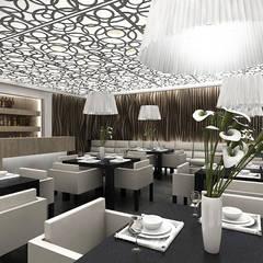 La Dolce Vita - Projekt wnętrza restauracji: styl , w kategorii Miejsca na imprezy zaprojektowany przez ArtCore Design