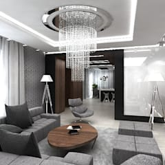 Architektura wnętrz nowoczesnego domu: styl , w kategorii Salon zaprojektowany przez ArtCore Design
