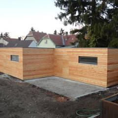 โรงรถและหลังคากันแดด โดย Naturmont, โมเดิร์น ไม้ Wood effect