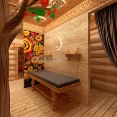 Spa de estilo  por Дизайн студия 'Дизайнер интерьера № 1', Ecléctico Madera Acabado en madera