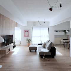 Renovation 104: 一色玲児 建築設計事務所 / ISSHIKI REIJI ARCHITECTSが手掛けたリビングです。,