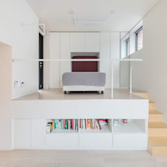 L house: aandd architecture and design lab.의  복도 & 현관,모던