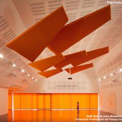 Sala de Usos Múltiples (SUM) e Instituto de Formación Profesional : Salas multimedia de estilo  por Paschetta&Cavallero Arquitectos