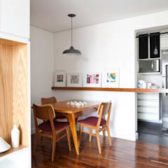 Sala de jantar e cozinha: Salas de jantar  por INÁ Arquitetura