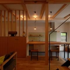 ドマのあるキッチン・ダイニング: 株式会社TERRAデザインが手掛けたリビングです。