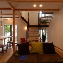 Livings de estilo  por 株式会社TERRAデザイン, Ecléctico Madera Acabado en madera