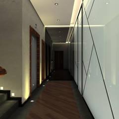 Kerim Çarmıklı İç Mimarlık – Spora Club:  tarz Koridor ve Hol