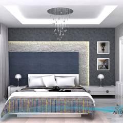 EN+SA MİMARİ TASARIM DEKORASYON MOB.İNŞ.SAN. VE TİC .LTD. ŞTİ – 3d görsel hazırlama:  tarz Yatak Odası