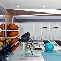 EN+SA MİMARİ TASARIM DEKORASYON MOB.İNŞ.SAN. VE TİC .LTD. ŞTİ – spor odası: modern tarz Fitness Odası