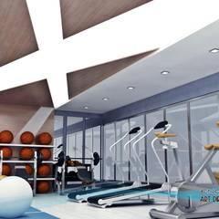 EN+SA MİMARİ TASARIM DEKORASYON MOB.İNŞ.SAN. VE TİC .LTD. ŞTİ – spor odası:  tarz Fitness Odası