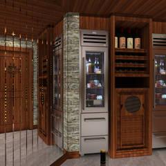 Kerim Çarmıklı İç Mimarlık – A.U.D EVİ:  tarz Şarap Mahzeni