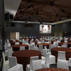 Salon de Eventos -  Vicuña Mackena - Pcia de Cordoba - Rep Argentina: Salas de conferencias de estilo  por Vision Digital Architecture