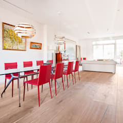 Dining room by Tarimas de Autor, Colonial Wood Wood effect