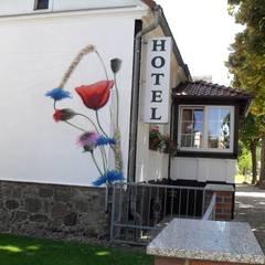 Fassadenkunst auf Firmengebäude:  Gastronomie von  Wandgestaltung Graffiti Airbrush von Appolloart
