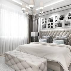 Five o'clock - projekt wnętrza apartamentu w Warszawie Klasyczna sypialnia od ArtCore Design Klasyczny