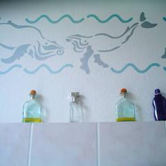 Wandschablone Wale:  Wände von ab-design GmbH