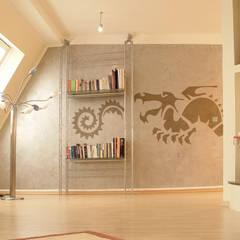 Wandschablone Drache:  Wände von ab-design GmbH