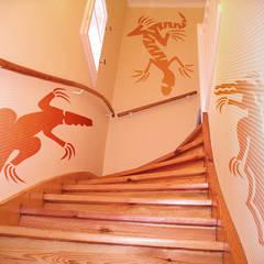 Wandschablone Krokodil:  Wände von ab-design GmbH