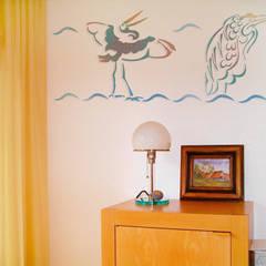 Wandschablone Reiher:  Wände von ab-design GmbH