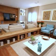 Campo Belo: Salas de estar  por MeyerCortez arquitetura & design