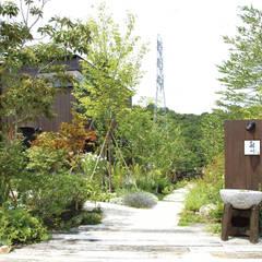 Jardines de estilo  por WA-SO design    -有限会社 和想-