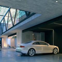 Garajes de estilo minimalista por Esquiliano Arqs