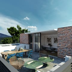 Town Houses Zibatá: Terrazas de estilo  por Tectónico