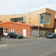 Kita - Ansicht straßenenseitig:  Schulen von Noesser Padberg Architekten GmbH