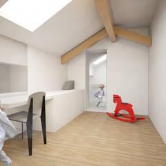 Maison L: Chambre d'enfant de style de style Minimaliste par Thibaudeau Architecte
